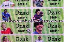 Stiker Nama Football Player