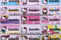 Stiker Nama Hello Kitty