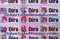 Stiker Nama Little Twin Stars