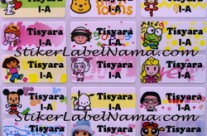 Stiker Nama Mix Girl