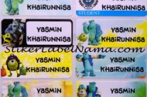 Jual Stiker Nama Monster University