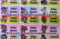 Stiker Nama Powerpuff Girl