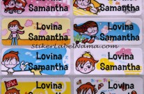 Stiker Label Nama Princess Diane