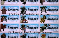 Stiker Nama Shaun The Sheep