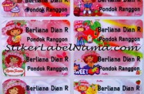 Jual Stiker Nama Strawberry