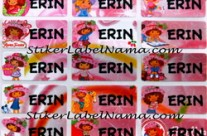 Stiker Nama Strawberry