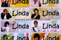 Stiker Label Nama Super Junior