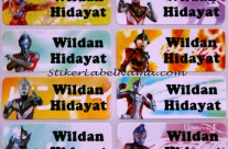 Stiker Label Nama Ultramen