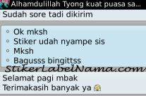 Testimoni Label Nama Waterproof